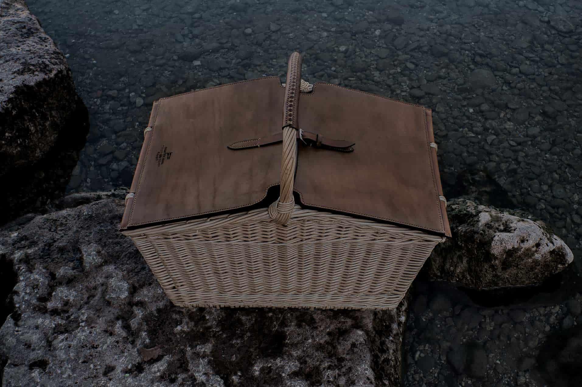 panier pique-nique, pour la chasse le golf, les parties de campagne... Panier pique-nique Épicure fait main de fabrication Française, made in France